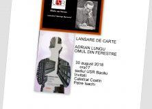 """Cenaclul """"George Bacovia""""- LANSARE DE CARTE ADRIAN LUNGU"""