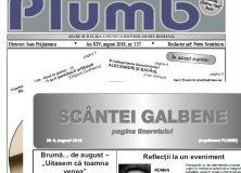"""Revista """"Plumb"""" şi revista """"Scântei Galbene"""" – august 2018"""