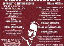 "1 sept 2018- Festivalul ""George Enescu"" la Tescani"