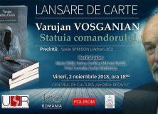 """LANSARE DE CARTE – VARUJAN VOSGANIAN – Centrul de Cultură """"George Apostu"""""""