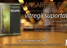 LANSARE DE CARTE NICOLAI TĂICUȚU/14 martie