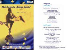 """Zilele Centrului de Cultură """"George Apostu"""" 9-10 mai 2019"""