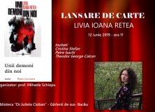 Lansare de carte – Unii demoni din noi – Livia Ioana Retea