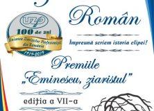 "Premiile ""EMINESCU, ZIARISTUL"", ediția a VII-a"