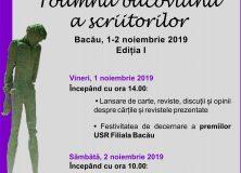 """""""Toamna bacoviană a scriitorilor"""" – 1-2 noiembrie 2019"""