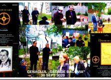 """30 sept 2020 – Cenaclul """"George Bacovia"""""""